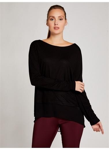 Vekem-Limited Edition Şifon Detaylı Yünlü Basic Bluz Siyah
